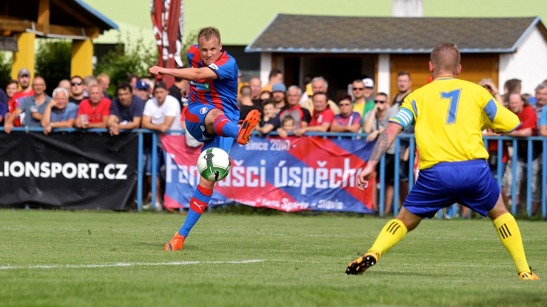 In the first pre-season match Viktoria scored 7 goals against Senco Doubravka